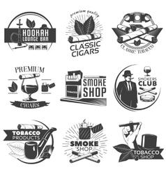 Smoking Tobacco Label Set vector