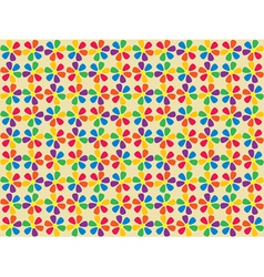 spectrum flowers pattern vector image