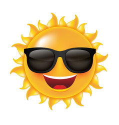 sun smile vector image
