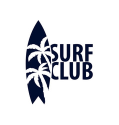 surfing logo and emblems for surf club or shop vector image