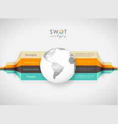 swot - strengths weaknesses opportunities vector image