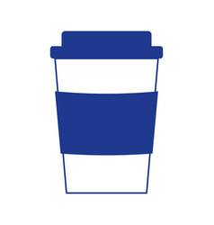 takeaway coffee cup disposable beverage isolated vector image