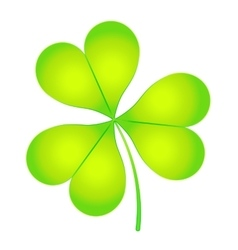 The images of abstract three-leaf clover vector image