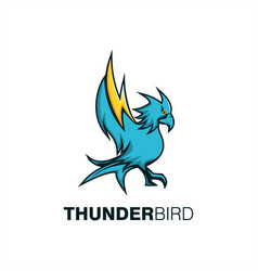 thunder bird mascot vector image