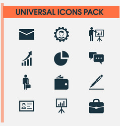 Trade icons set collection of leader vector