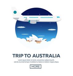 trip to australia sydney travelling vector image