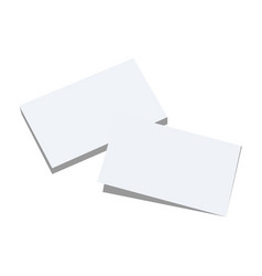 two blank white paper sheets with different vector image