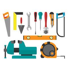 Various color flat design house repair vector
