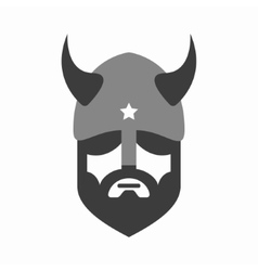 Viking head logo design Head of warrior vector
