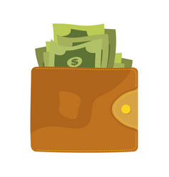 wallets with money vector image