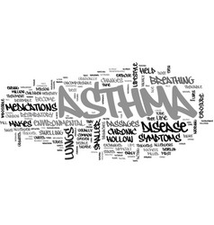 What is asthma text word cloud concept vector
