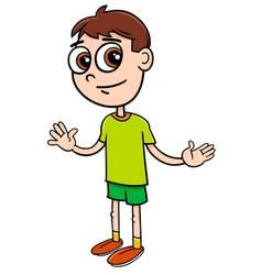 Elementary age boy cartoon vector