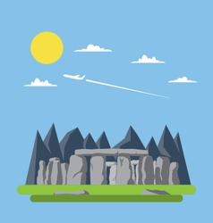 Flat design of stonehenge England vector image