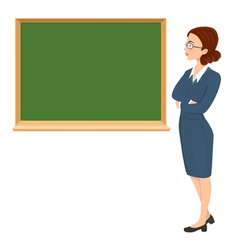 teacher with eyeglasses vector image vector image
