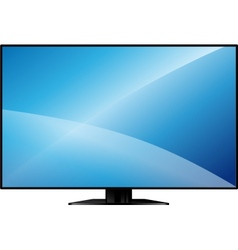 TV with a large blank screen vector image