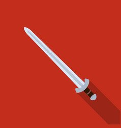 Viking sword icon in flate style isolated on white vector