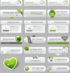 Web design template elements vector image