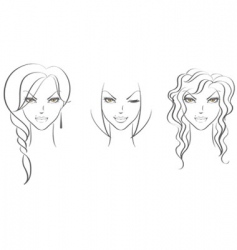 faces women's vector image vector image