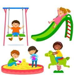kids in the playground vector image