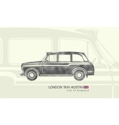 printing London taxi Austin vector image vector image