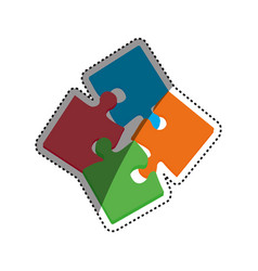 puzzle pieces together vector image vector image