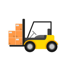 delivery icon with warehouse forklift vector image