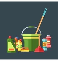 House cleaning tools vector image