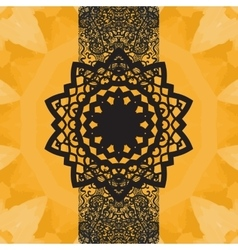 Indian yoga ornament kaleidoscopic floral pattern vector