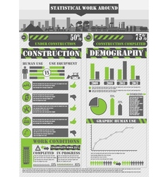 INFOGRAPHIC WORK GREEN vector image vector image