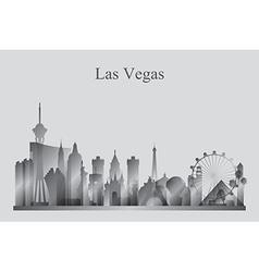 Las Vegas city skyline silhouette in grayscale vector image vector image