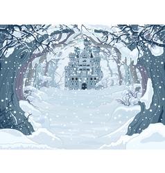 Magic winter castle vector