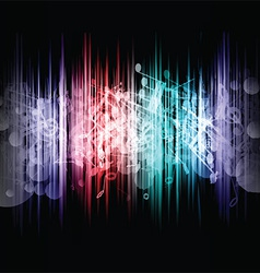 music abstract 1107 vector image vector image