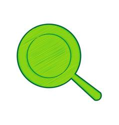 pan sign lemon scribble icon on white vector image vector image