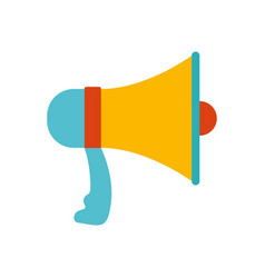 white background with colorful megaphone vector image