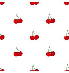 cherry seamless pattern ripe sweet tasty berries vector image vector image