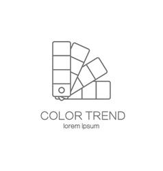 Color palette logotype design templates vector
