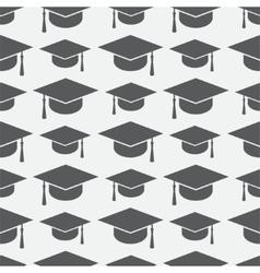 Graduation cap seamless pattern vector image vector image