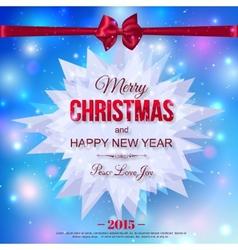 Happy New Year 2015 typographical celebration vector image