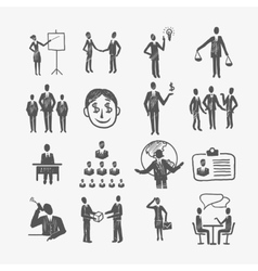 Sketch business people vector image vector image