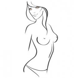 slim women vector image vector image