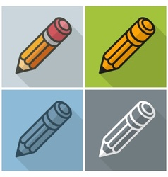 Wooden pencils stylized vector image vector image
