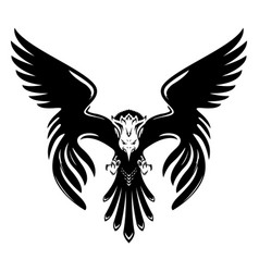 abstract eagle silhouette on white background vector image