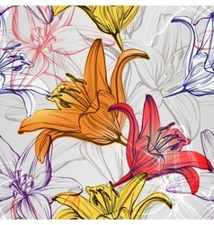 abstract floral blooming lilies background texture vector image