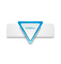 abstract hi-tech grey blue banner with triangle vector image