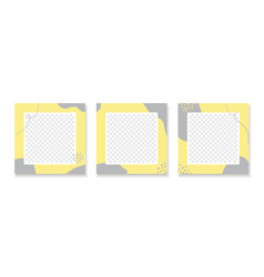 Abstract yellow gray backgrounds for instagram vector