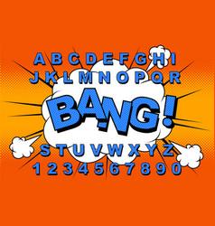 alphabet comic vector image