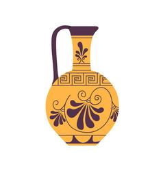 Ancient roman wine jug with handle antique vector