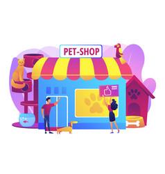 animals shop concept vector image