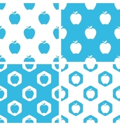 Apple patterns set vector