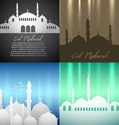 Attractive background set of ramadan kareem vector